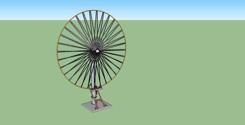 BarberWind Turbines rendering of turbine in raised position
